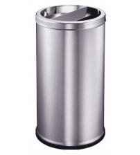 AE-385 不銹鋼座地煙灰盅垃圾桶(半開口)