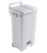 90公升腳踏揭蓋式垃圾桶連轆