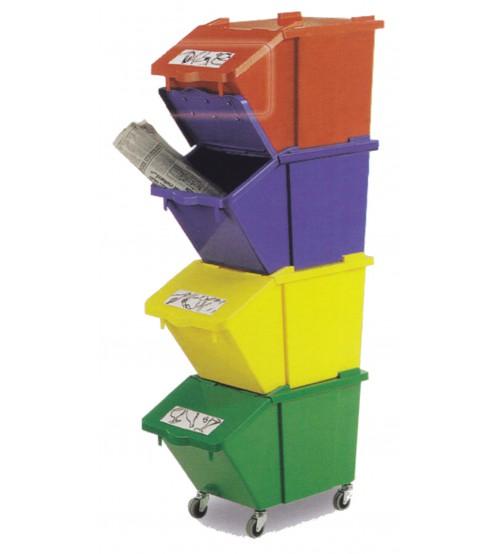 有蓋方型環保分類回收箱